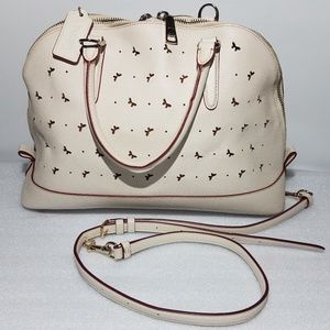 Coach Crossbody Purse Butterfly Stensil Out
